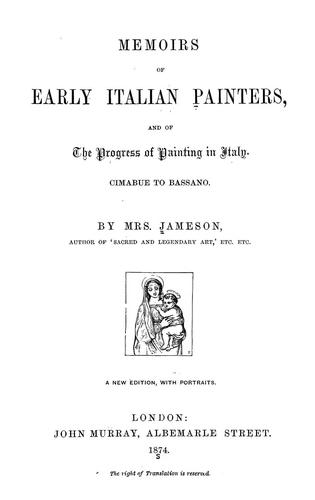 Download Memoirs of early Italian painters