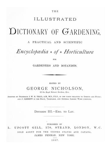 Download The illustrated dictionary of gardening