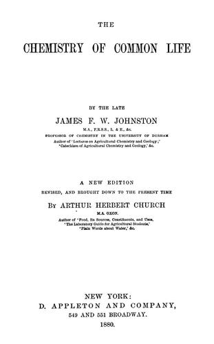 Download The chemistry of common life