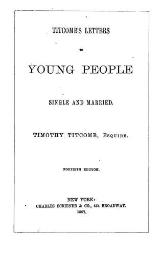 Download Titcomb's letters to young people  single and married
