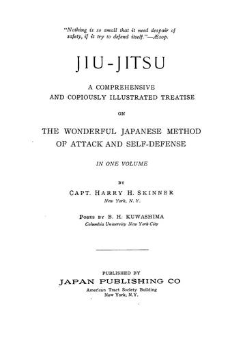 Jiu-jitsu by Harry H. Skinner