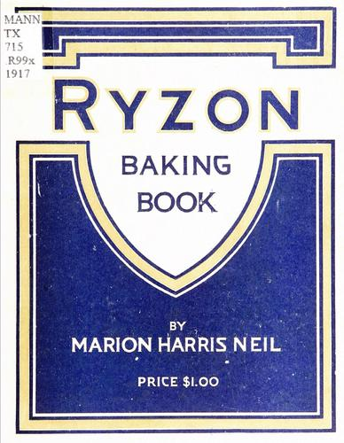 Ryzon baking book by Marion Harris Neil